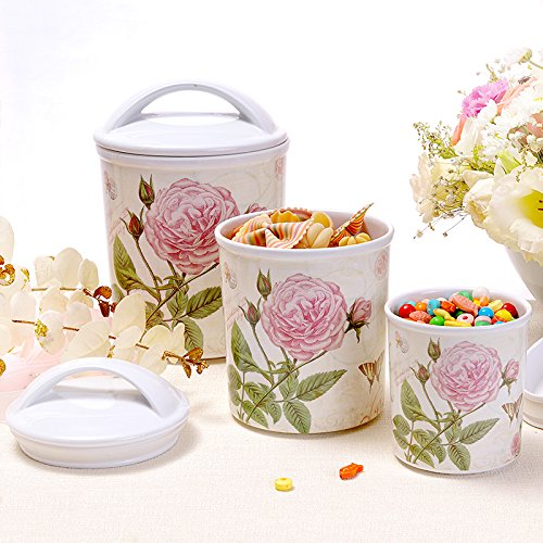 GreenSun(TM) European Creative Melamine Storage Tank Box Bottle With Sealed Cans For Candy Jar Cereal Tea Kitchen Storage Pot Tools Gifts