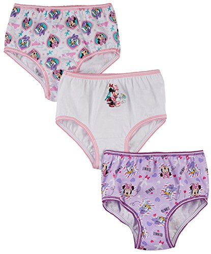(Minnie Mouse Little Girls Toddler Bow-Tique 3-Pack Panties - pink/multi, 4t)