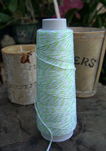 Dexon Power Bakers Twine Lime Green & White 100 yds