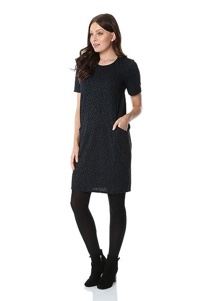 Girls Leopard Tartan Print Dress Childrens Crew Neck Casual Jersey Swing Dress