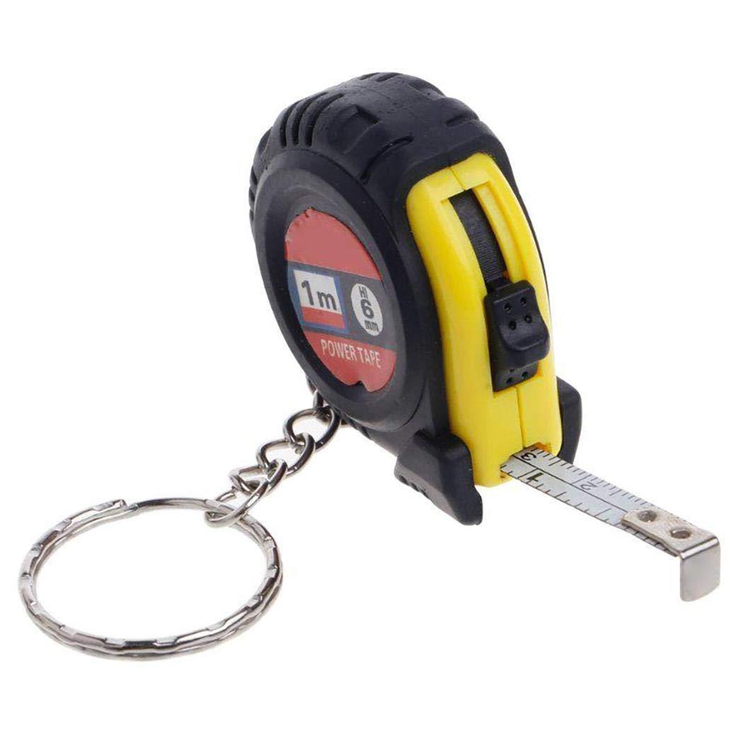 Gfone Righello di misura del nastro del righello ritrattabile della catena chiave dello strumento portatile di misura Metri a nastro