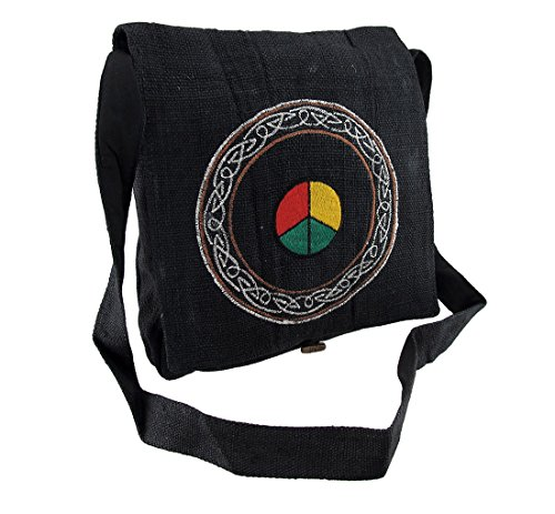 Multicolored Hemp Womens Cross Body Hemp Embroidered 14 Celtic Sign Inches X Design Cloth 6 X Bag Bags Cross Body 14 Peace 1RdXXx5w