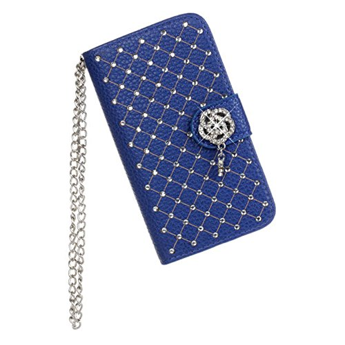 iPhone 4 4S Case,COOLKE [Blue] BLUE Luxury Beautiful Diam...