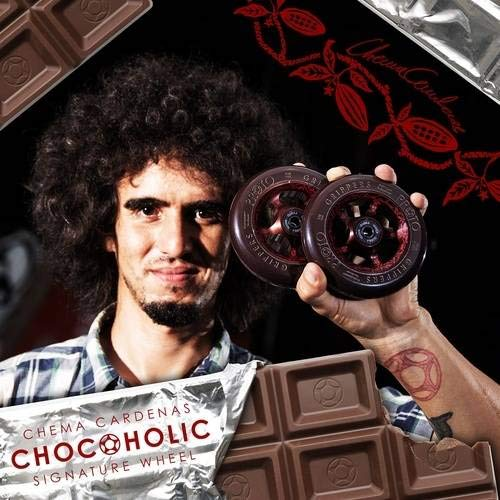 Proto Gripper Wheel 110mm Chema Cardenas Chocoholic Signature Wheels (Pair) by Proto (Image #3)