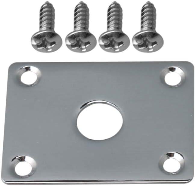 1x Silver Flat Bottom Metal Jack Plate Flat Base Square Jackplate