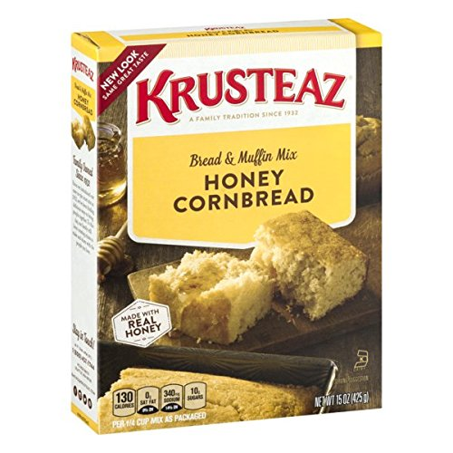 Krusteaz Cornbread and Muffin Mix, Honey, 15 Oz
