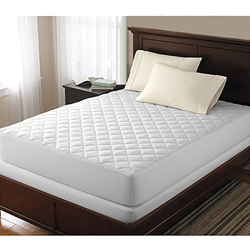 Bed Bug Protector Dust Mite Allergy Relief Waterproof Quilted Mattress Cover Pad Protector (Queen)