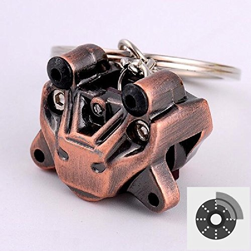 Brake Caliper Disc Pump Racing Sport 2 Pot 4 Pot 6 Pot Brake Caliper Car Motorcycle Auto Racing Sport Performance Parts Keychain Keyring For Universal Key (4 Racing Pot)