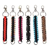 7.75'' TWO-TONE PARACORD KEYCHAIN, Case of 144