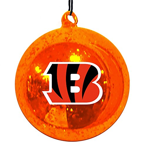 Team Sports America Cincinnati Bengals Mercury Glass Ball Ornament