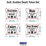 AoS: Sudden Death Token Set, Translucent Grey (4)