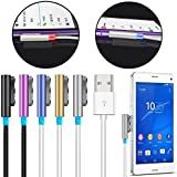 Cablesetc Premium Magnetic Metal LED Charging Cable Wire for Sony Xperia Z1 Z2 Z3 Compact Z Ultra