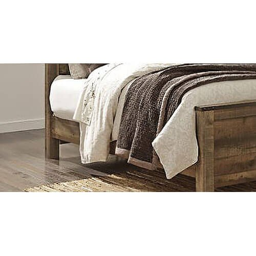 Signature Design by Ashley B446-97 Trinell Rustic Panel Bed, King - Ashley Furniture Bed