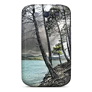 Hard Plastic Galaxy S3 Case Back Cover,hot Lake Pines Under Cloudy Sky Case At Perfect Diy