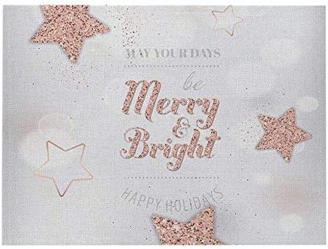 2PCS/LOT Home Christmas Square Place Mat Letter Print Kitche