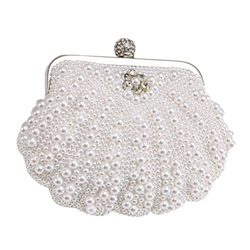 Handbag Purses Glitter Mini Clutch Hasp Bags Weding Crystal Rhinestones Beaded Messenger white Evening Shell Xuanhemen q8wI11