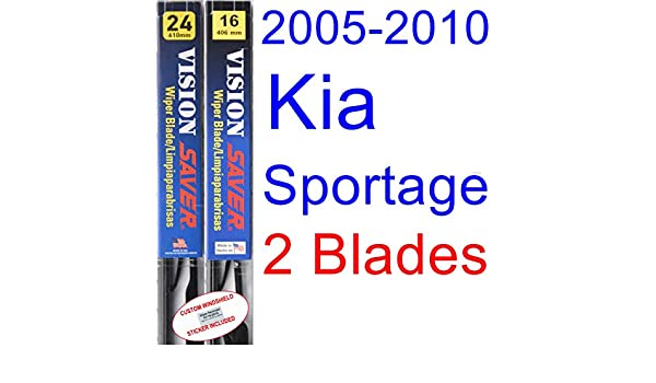 Amazon.com: 2005-2010 Kia Sportage Replacement Wiper Blade Set/Kit (Set of 2 Blades) (Saver Automotive Products-Vision Saver) (2006,2007,2008,2009): ...