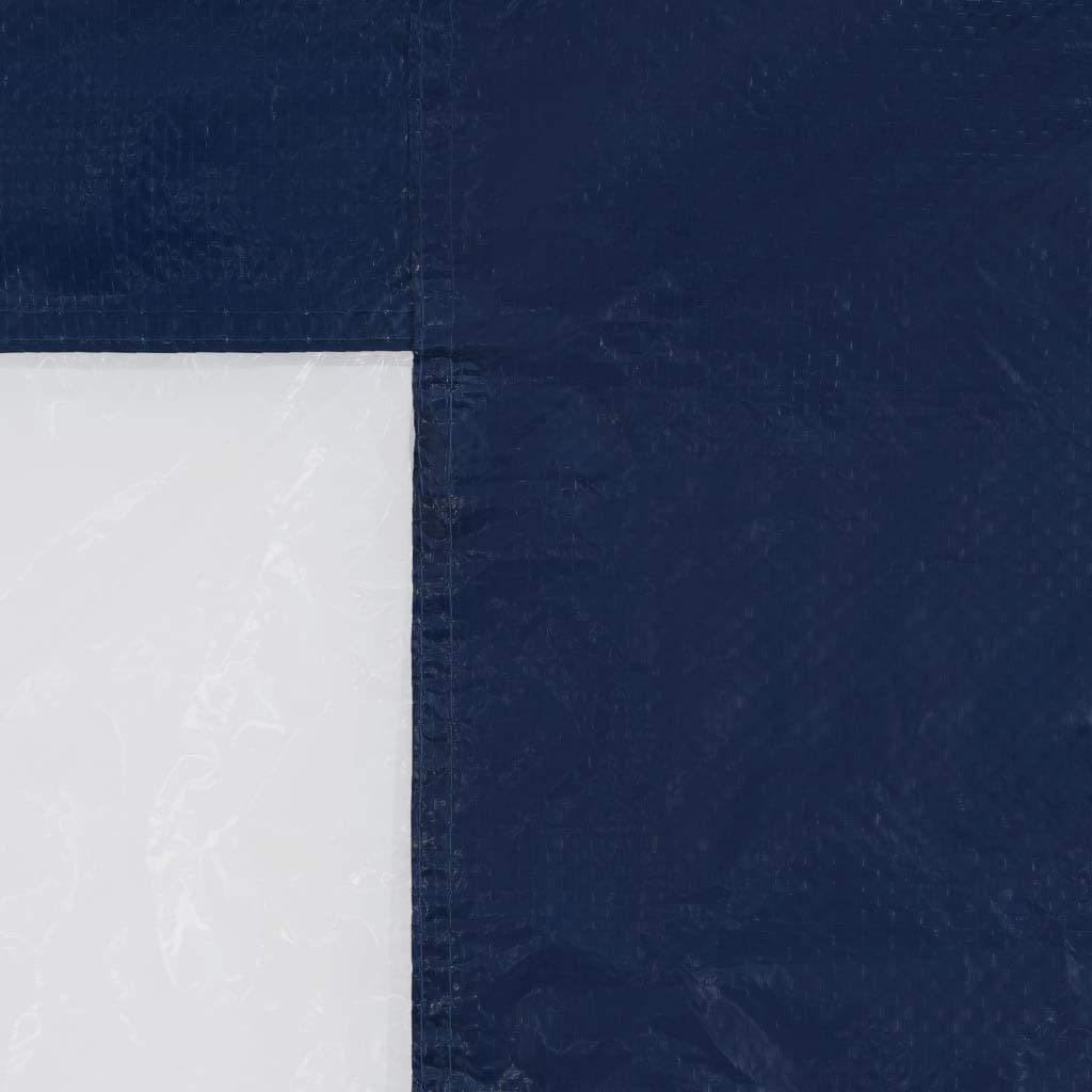vidaXL 2X Seitenteil mit Fenster PE Blau Seitenwand f/ür Partyzelt Pavillon