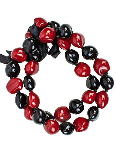 Painted Kukui Nuts - Barbra Collection Graduation Ceremony Kukui Nut Lei Hand Painted Necklace 32