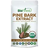 Biofinest Pine Bark Extract Powder 250mg – USDA Certified Organic Pure Gluten-Free Non-GMO Kosher Vegan Friendly – Supplement for Muscle Recovery, Energy and Athletic Performance (100g)