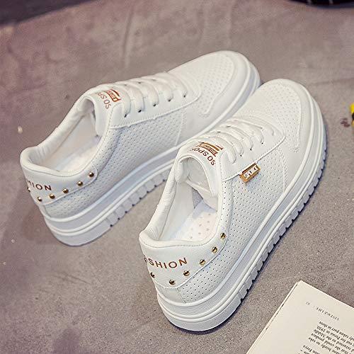 WFCAYDHN Zapatos de Mujer Zapatos Blancos Zapatos de PU Artificiales para Estudiantes Tallas Thirty-nine