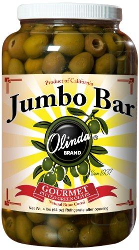 Jumbo Olives - Olinda Olives, Jumbo Pitted Bar, 4 Pound (Pack of 4)