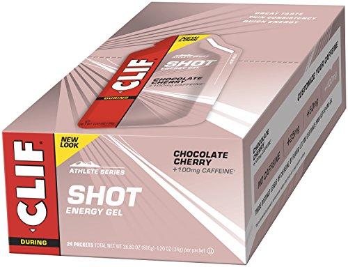 CLIF SHOT - Energy Gel - Chocolate Cherry - With Caffeine (1.2 Ounce Packet, 24 - Running Shots