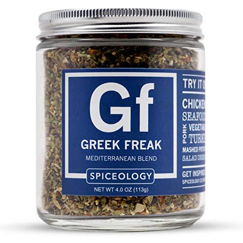 Greek Freak - Spiceology Mediterranean Blend - All Purpose Greek Seasoning Rub - 4 ounces ()