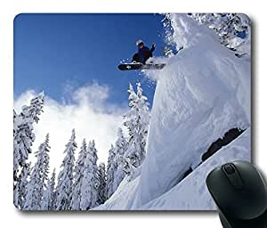 Perfect Snowboarding Jump Snowboarding Sports Masterpiece Limited Design Oblong Mouse Pad by Cases & Mousepads