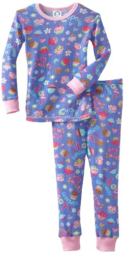 Gerber Baby Girls' 2 Piece Cupcake Sweetie Thermal Set