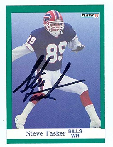 Steve Tasker autographed Football Card (Buffalo Bills) 1991 Fleer #13 - NFL Autographed Football Cards