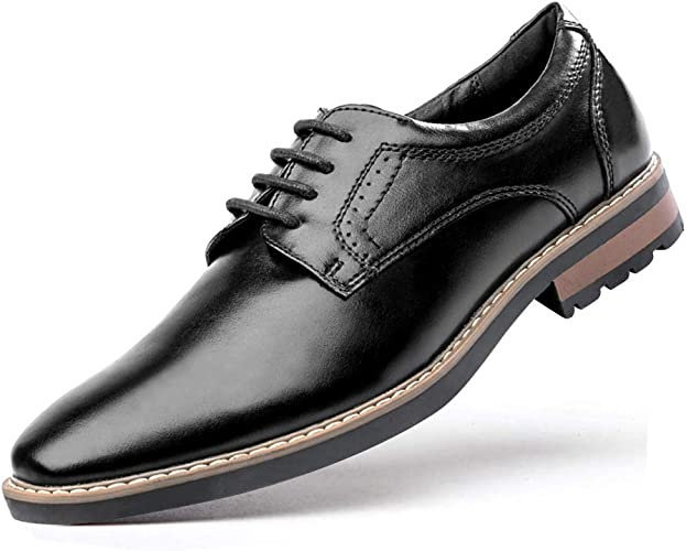 Mens Formal Shoes Leather Smart Lace Up Dress Wedding Office Derby Size
