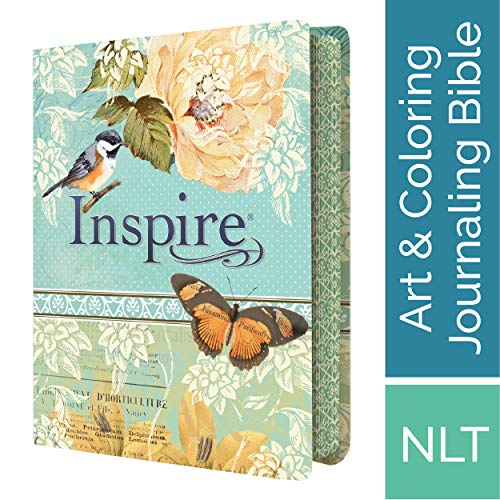 Tyndale NLT Inspire Bible, The Bible for Creative Journaling, Vintage Blue/Cream (Best Gesso For Art Journaling)