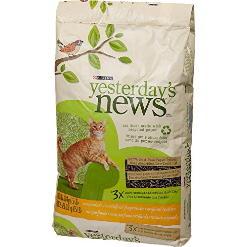 51sHy2pkJDL - Purina Yesterday's News Original Paper Pellet Unscented Cat Litter