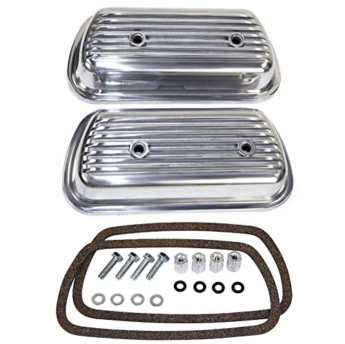 - Bolt-On Aluminum Valve Cover Set for VW Beetle - Empi 9152 Volkswagon