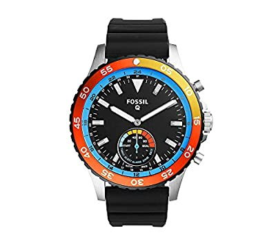 Fossil Hybrid Smartwatch - Q Crewmaster Black Silicone by Fossil