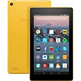 Fire 7 Tablet with Alexa, 7' Display, 8 GB, Canary Yellow - with Special Offers