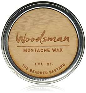 Mustache Wax by The Bearded Bastard | A Strong Hold For A Strong Man | Mustache Grooming, Mens Grooming, Hydrating, Essential Oils, Beeswax, Jojoba Oil, Mens Care, Facial Hair Products | ALL NATURAL, Petroleum-free Mustache Wax, 1oz, Strong Hold