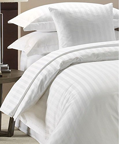 Duvet Cover Set 300 Thread Count White 100% Egyptian Cotton Hotel Quality  (Single)
