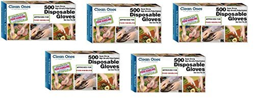 Clean ones Disposable Gloves- (5000 Gloves - Value Pack) 10 Box