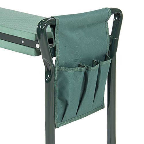 Garden Kneeling Bench With Handles and Tool Pouch by SHERRI'S HOME AND GARDEN (Image #5)