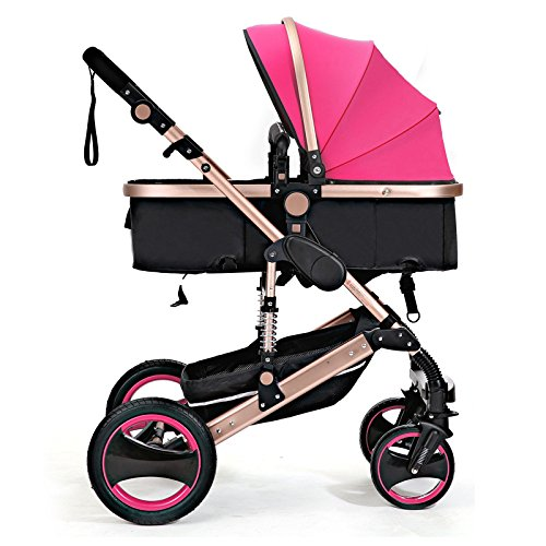 QXMEI Kids Pram Travel System 3 in 1 Combi Stroller Buggy Ba