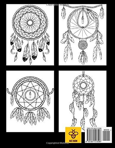 Amazon Dream Catcher Adult Coloring Book 9781981513598 Bee Books
