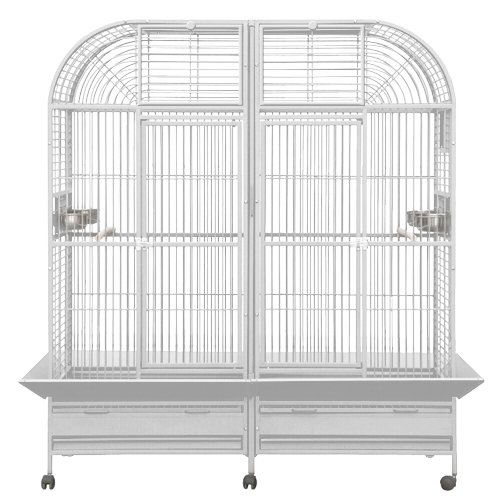 KING'S CAGES Superior Line SLT 6432 PARROT CAGE 64X32X70 Extra Large Bird Cage toy toys macaws,cockatoos (WHITE) by King's Cages