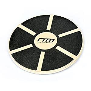 """Heavy Duty 15.5"""" Wooden Balance Wobble Board with Non-Slip Pad Fitness for Balance Stability Rehabilitation and Strength Training"""