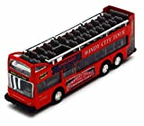 Showcasts Chicago Sightseeing Double Decker Bus Open Top, Red 2168CG - 6 Inch Scale Diecast Model Replica, but NO BOX