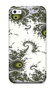JudyRM Perfect Tpu Case For Iphone 5c/ Anti-scratch Protector Case (fractal Pattern) by lolosakes