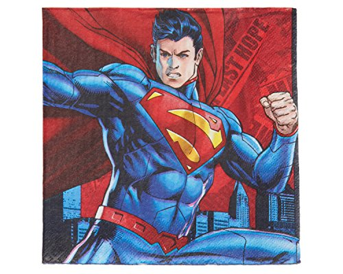 American Greetings Superman Party Supplies, Paper Lunch Napkins (16-Count)