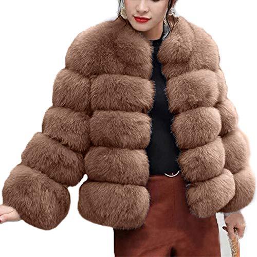 Abrigo abrigos Alto Damas Cuello Elegante Chaqueta 1 Sintética Beikoard Mujer De Piel BdFBw8