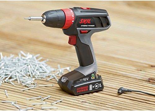 Skil 2461 AA Taladro atornillador a batería - utilice la batería o el cable – 16V Max